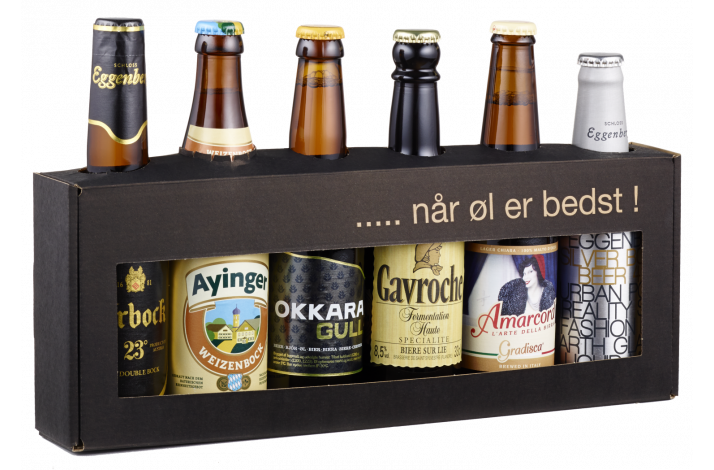 Gaveæske 6 x 33 europæisk.... når øl er bedst