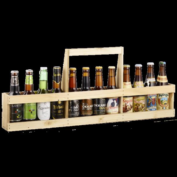 Europæisk ØLSTANG med 12 x 33 cl europæiske øl.